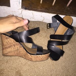 Mossimo Supply Co. Shoes - NWOT Wedge heels black